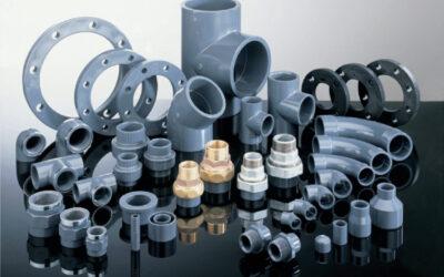 Beslag, ventiler, PVC-rör